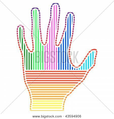 Colored Hand.