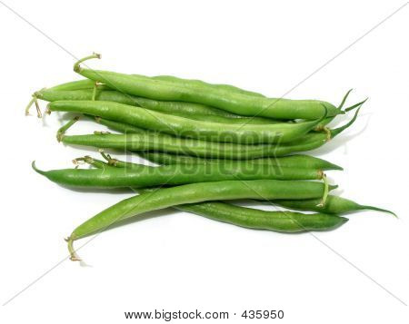 Green Beans On White