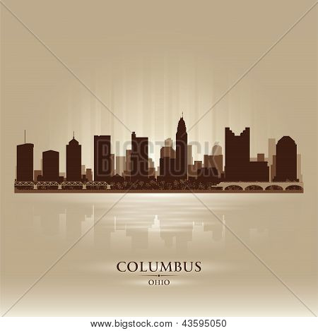Columbus Ohio City Skyline silhueta