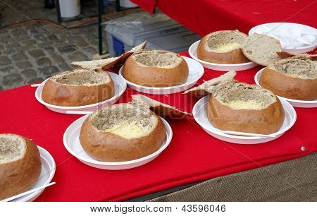 Bread Rolls With Cheese Inside