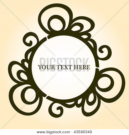 Elegant vignette frame with a place for your text or photo, vector