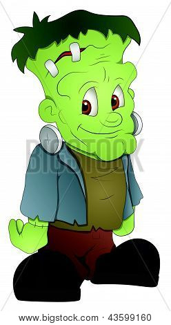 Frankenstein - Cartoon Character - Vector Illustration
