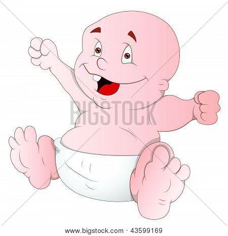 Cute Baby - Cartoon Character - Vector Illustration