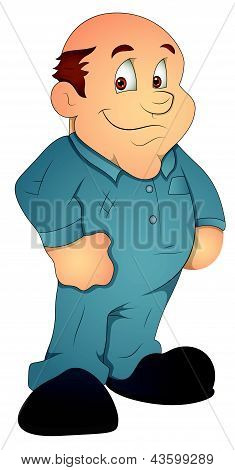 Mechanic - Cartoon Character - Vector Illustration