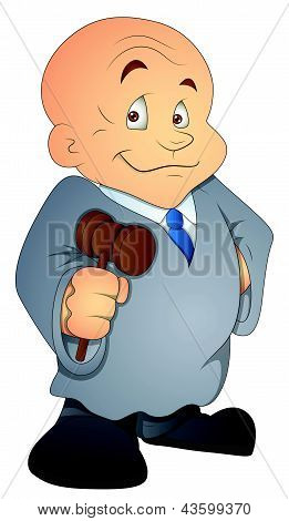Judge - Cartoon Character - Vector Illustration
