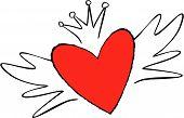 Cute Emo Style Heart