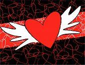 Winged Cartoon Heart