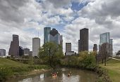 picture of bayou  - A Cloudy Day at Downtown Houston - JPG