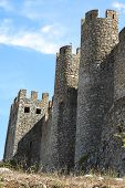 Portugal, Obidos: The Outside Walls Of The Medieval Fortress poster