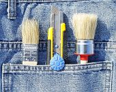 Brush and knife in pocket