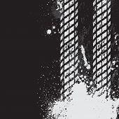 Постер, плакат: Черные шины трек фона
