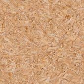 Pressed Wooden Panel (OSB). Seamless Texture.