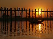 Sunset on U Bein bridge, Myanmar
