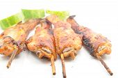 Grilled Chicken Wings On White Dish