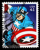 United States Captain America Superhero Postage Stamp