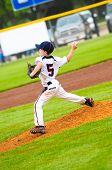 Young Baseball Pitcher