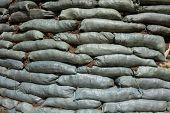picture of sandbag  - Sandbags for flood protection - JPG