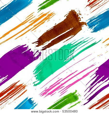 Colorful grunge brush strokes seamless pattern