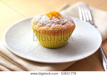 Cottage Cheese Muffin With Orange Zest