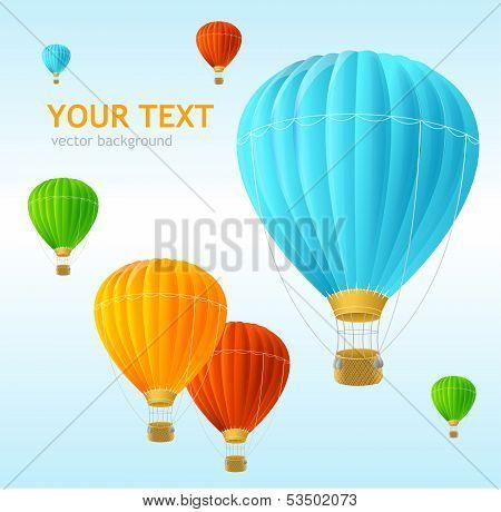 Vector air ballons background