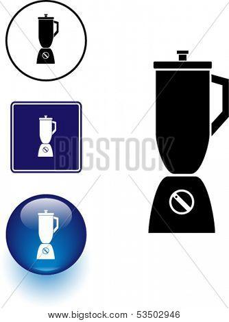 blender symbol sign and button