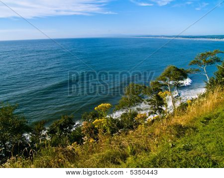 Cliffside View Of Ocean
