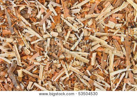 Background Of Wet Sawdust