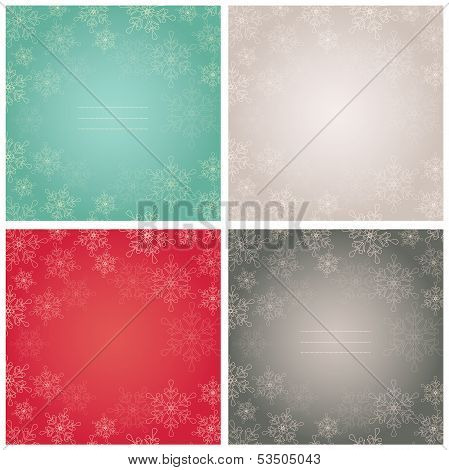 Elegant Backgrounds With Snowflakes. Vector Illustration.
