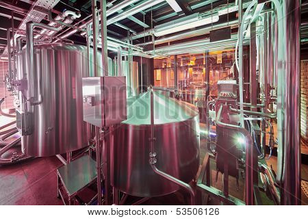 Microbrewery at cafe