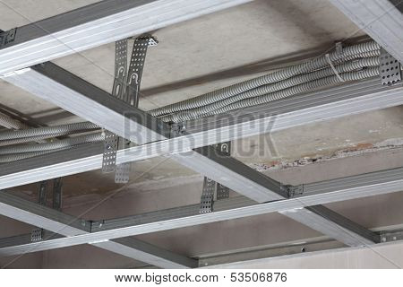 Ceiling frame made of metal profile
