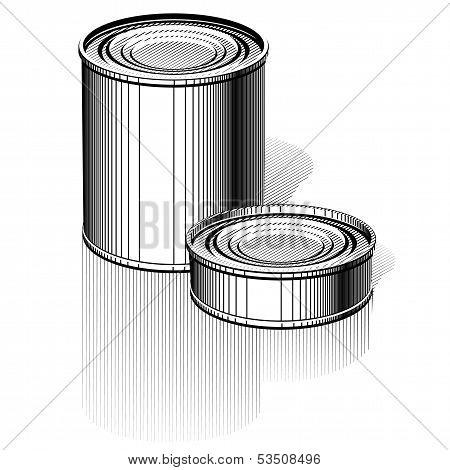 Vector Tincan set