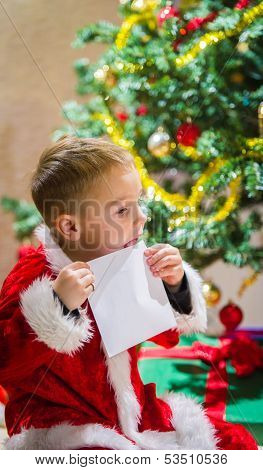 Boy And Letter