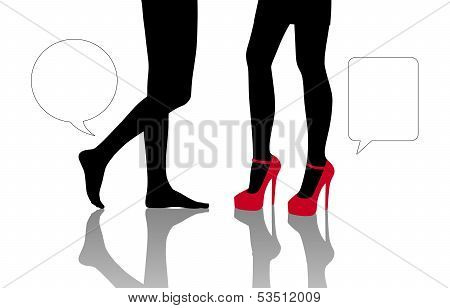 Dialogue Between Two Different Women Standing