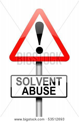 Solvent Abuse Concept.