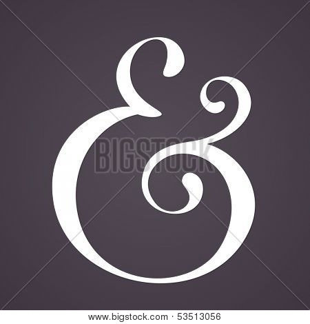 Ampersand for decoration. Vector illustration