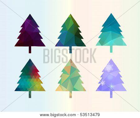 Colorful Diamonds ?hristmas Tree Set