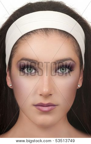 Young woman with smokey eye make up