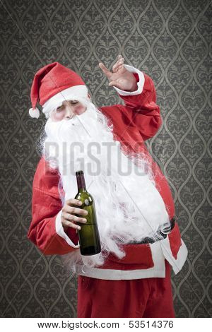 Drunk Santa is giving hard time to everybody.