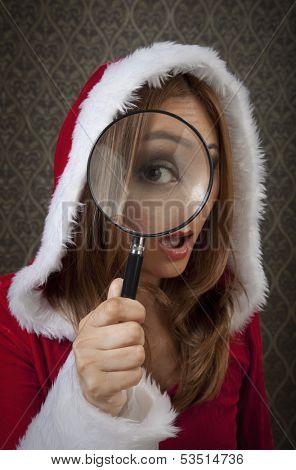 Mrs Santa saw something unexpected.