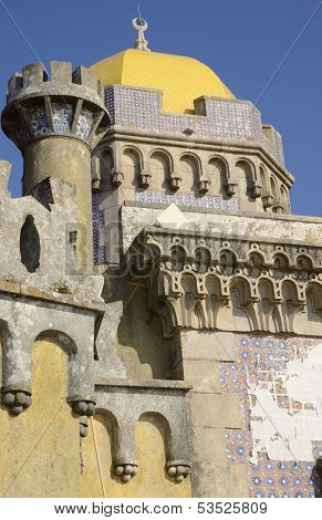 Detail Of The Pena National Palace