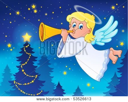 Angel theme image 4 - eps10 vector illustration.