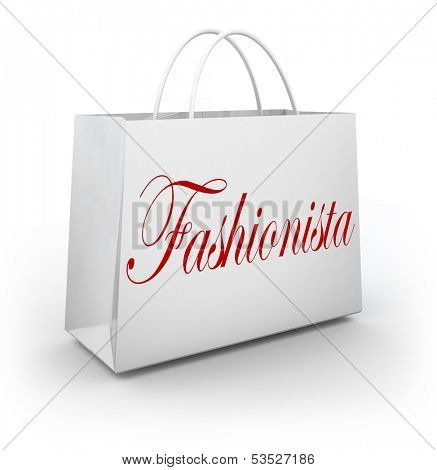 Fashionista shopping bag style savvy shopper