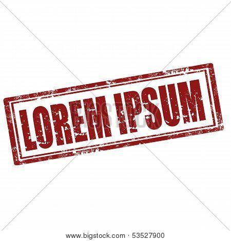 Lorem Ipsum-stamp