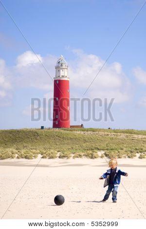 Playing child lighthouse