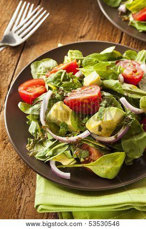 Organic Green Avacado And Tomato Salad