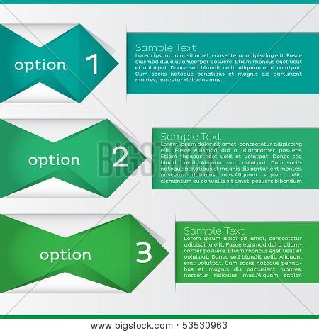 Option Infographic. Vector Illustration
