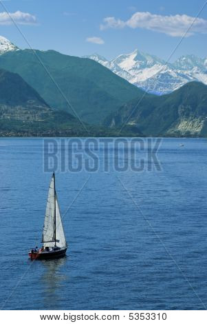 Sail Boat At The Lake