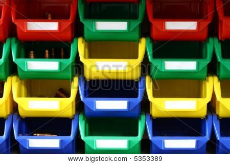 Colorful Plastic Containers