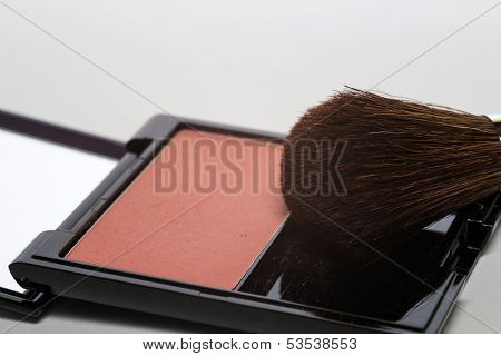 Blusher In A Cosmetics Compact