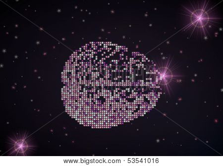 3D Render Of A Thinking Brain Symbol Of Glamour Stars